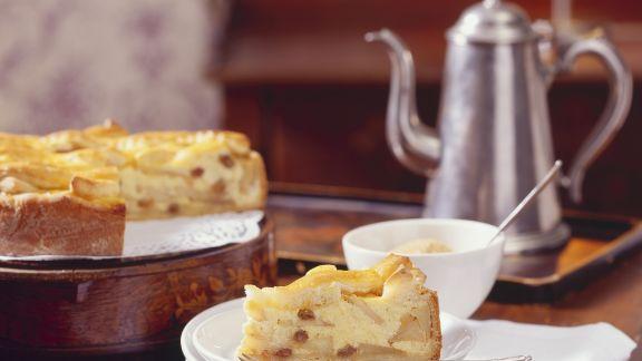 Rezept: Grieß-Apfel-Kuchen mit Sultaninen