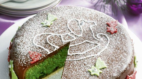 Rezept: Grüne Ananas-Marzipan-Torte