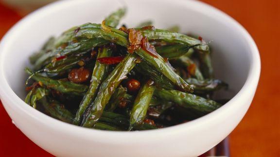 Rezept: Grüne Bohnen auf chinesische Art