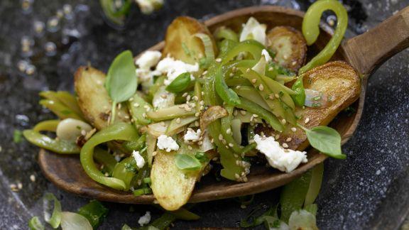 Rezept: Grüne Kartoffelpfanne