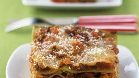 Rezept: Grüne Lasagne mit Parmesan