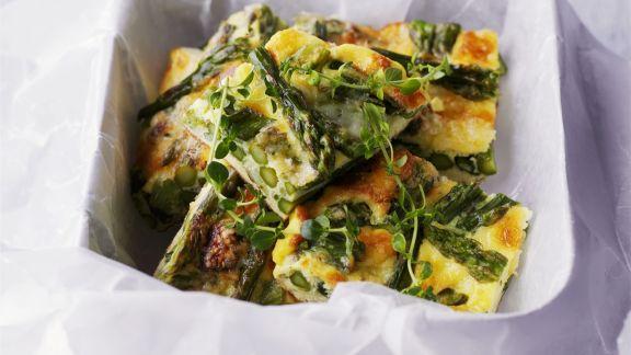 Rezept: Grüne Spargel-Frittata