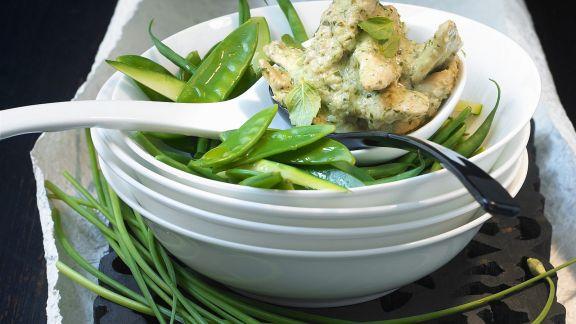 Rezept: Grünes Curry auf thailändische Art mit Hähnchen