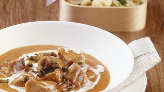 Rezept: Gulasch aus Kalbfleisch