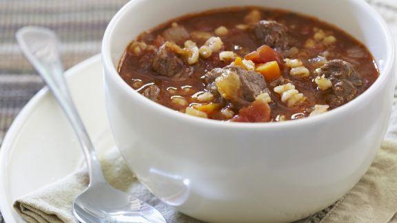 Rezept: Gulasch-Gersten-Suppe