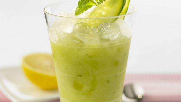 Rezept: Gurken-Smoothie mit Zitronensorbet