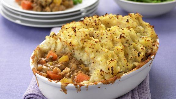 Rezept: Hackauflauf mit Kartoffelpüree (ShepardŽs Pie)