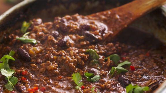Rezept: Hackfleisch Eintopf auf mexikanische Art (Chili con Carne)