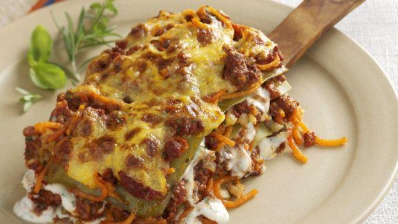 Rezept: Hackfleisch-Lasagne mit Kürbis