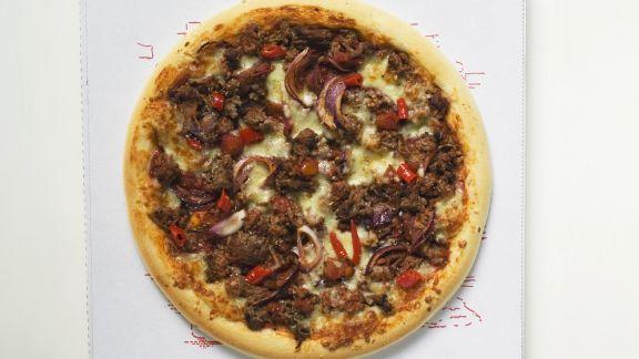 Rezept: Hackfleisch-Pizza