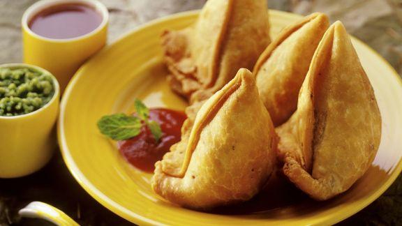 Rezept: Hackfleisch-Taschen auf indische Art