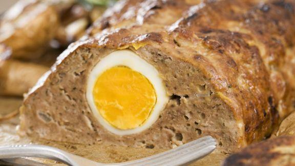 Rezept: Hackfleischbraten mit Ei