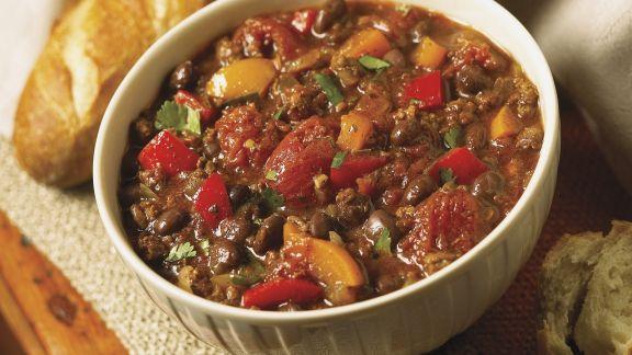 Rezept: Hackfleischeintopf mit Paprika und Tomaten