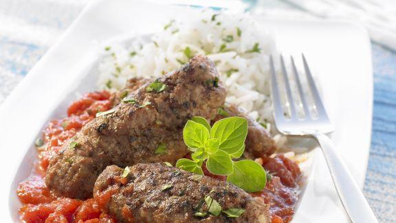 Rezept: Hackfleischklößchen mit Tomatensoße auf griechische Art