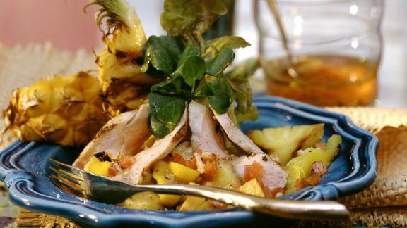 Rezept: Hähnchen-Ananas-Salat auf kreolische Art