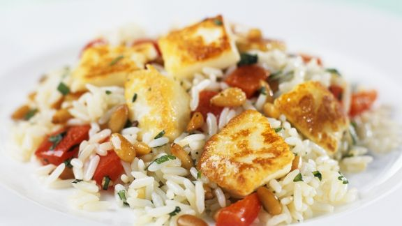 Rezept: Hähnchen auf Reis mit Tomaten
