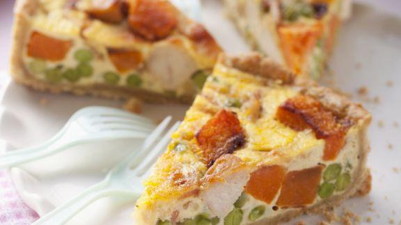 Rezept: Hähnchen-Gemüse-Kuchen