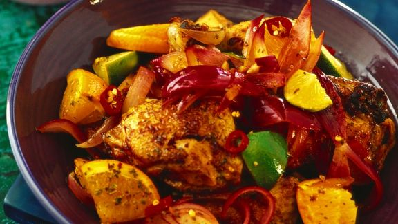 Rezept: Hähnchen in Zitrusfruchtsauce