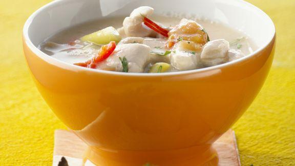 Rezept: Hähnchen-Kokos-Suppe