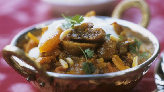 Rezept: Hähnchen mit Aprikosen auf ayurvedische Art