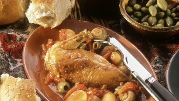 Rezept: Hähnchen mit Oliven auf korsische Art