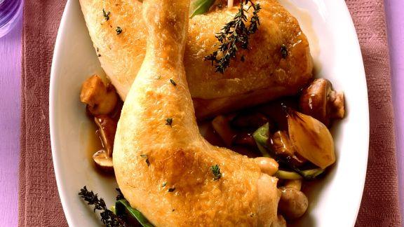 Rezept: Hähnchen mit Pilzsauce