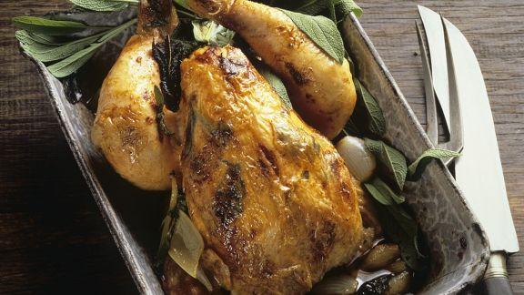 Rezept: Hähnchen mit Salbei