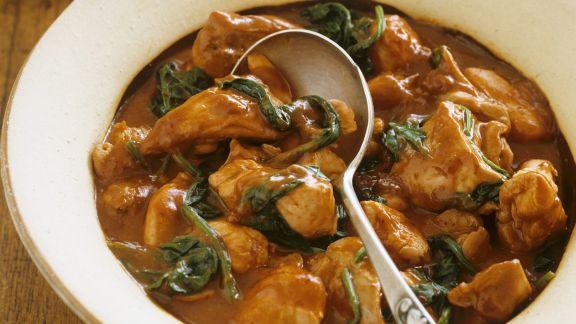 Rezept: Hähnchen mit Spinat auf indische Art