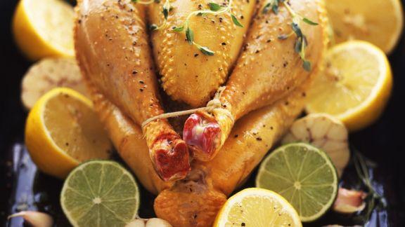 Rezept: Hähnchen mit Zitronen und Limetten