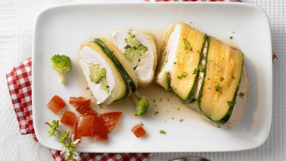 Rezept: Hähnchen mit Zucchinihülle