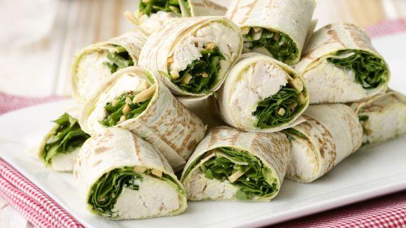 Rezept: Hähnchen-Wraps mit Rucola