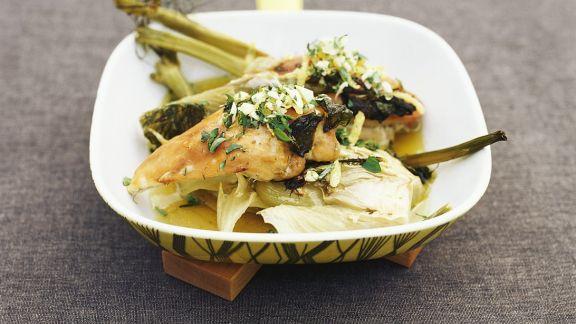 Rezept: Hähnchenbrust auf Fenchelgemüse