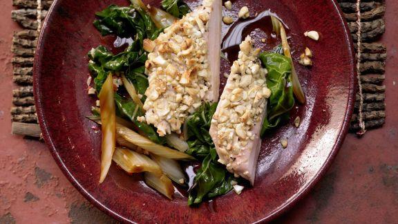 Rezept: Hähnchenbrust mit Cashewkruste