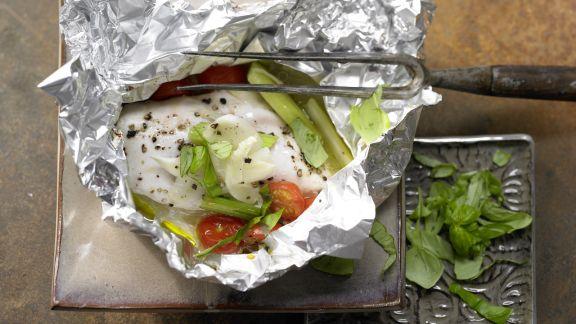 Rezept: Hähnchenbrust in der Folie gegart