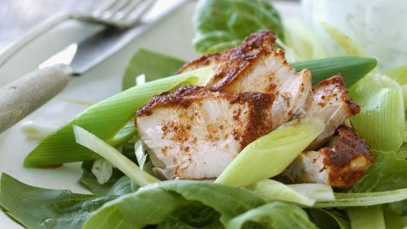 Rezept: Hähnchenbrust in Marinade mit grünem Salat