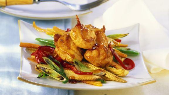 Rezept: Hähnchenbrust mit Asia-Gemüse und Austernsoße