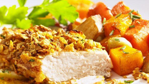 Rezept: Hähnchenbrust mit Cornflakes