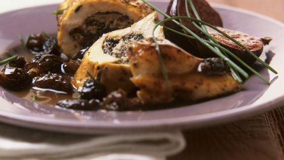 Rezept: Hähnchenbrust mit Morchelfüllung