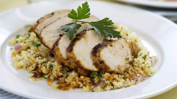 Rezept: Hähnchenbrustfilet mit Couscous