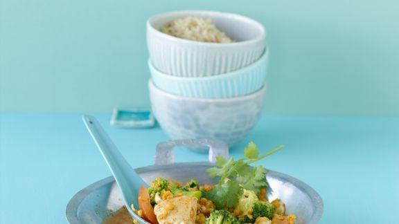 Rezept: Hähnchencurry mit Linsen