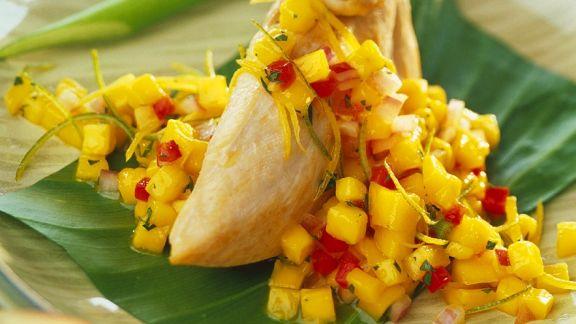Rezept: Hähnchenfilet mit Mangosauce