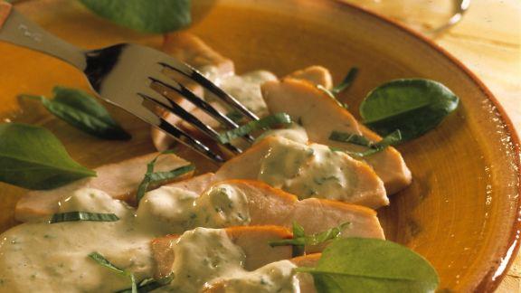 Rezept: Hähnchenfilet mit Sauerampfersoße
