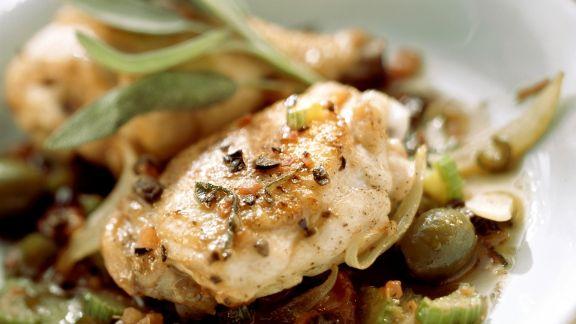 Rezept: Hähnchenkeulen in feuriger Soße