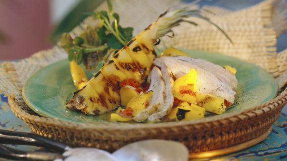 Rezept: Hähnchensalat mit Ananas auf kreolische Art