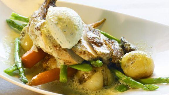 Rezept: Hähnchenschenkel mit Gemüse