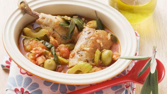 Rezept: Hähnchenschlegel mit Gemüse