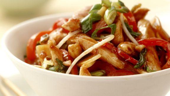 Rezept: Hähnchenstreifen asiatische Art