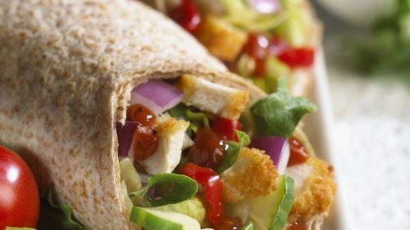 Rezept: Hähnchenwrap mit Gemüse