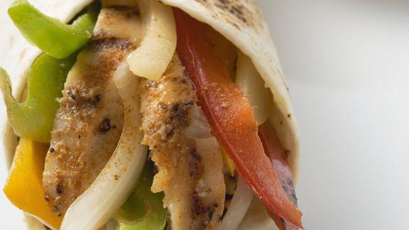 Rezept: Hähnchenwrap und Guacamole