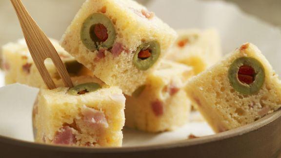 Rezept: Häppchen aus Olivenkuchen